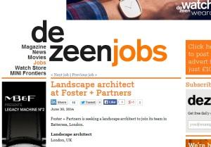 Deezeen Jobs Landscpe