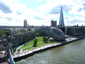Exterior CGI of View C at One Tower Bridge Development